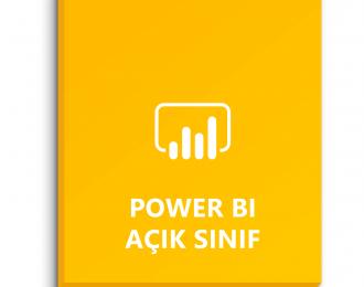 Power BI Açık Sınıf